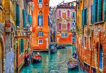 Quadro em vidro  Venice Colours