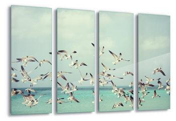 Quadro em vidro  Vintage Seagulls
