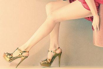 Quadro em vidro Women love Shoes