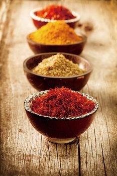 Quadro em vidro Zen - Bowls with Spices