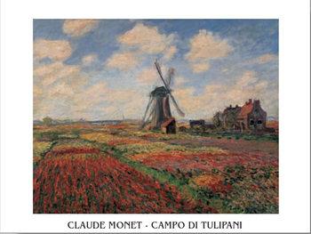 Reprodução do quadro A Field of Tulips in Holland, 1886