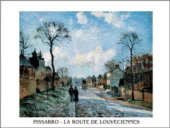 Reprodução do quadro  A Road in Louveciennes