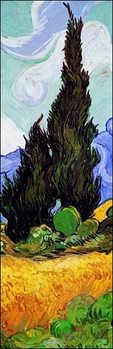 Reprodução do quadro  A Wheatfield with Cypresses, 1889 (part.)
