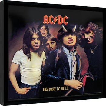 AC/DC - Highway To Hell Poster Emoldurado