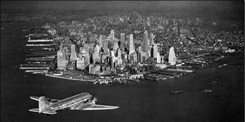 Reprodução do quadro Airplane view of parts of urban sites
