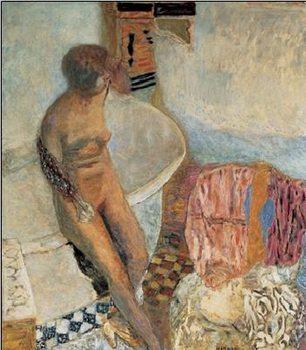 Reprodução do quadro Akt ženy opírající se o vanu, 1931