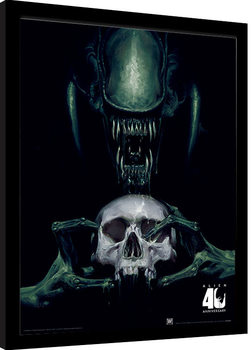 Alien: Vision of Death - 40th Anniversary Poster Emoldurado