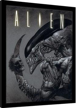 Aliens - Head on Tail Poster Emoldurado