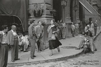 Reprodução do quadro  American girl in Italy, 1951