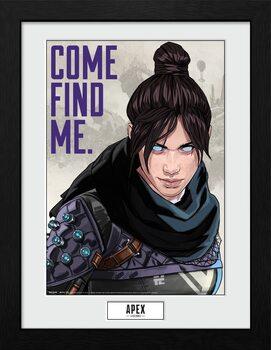 Apex Legends - Come Find Me Poster Emoldurado