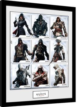 Assassins Creed - Compilation Characters Poster Emoldurado