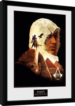 Assassins Creed Origins - Face Poster Emoldurado