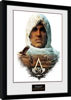 Assassins Creed Origins - Head Poster Emoldurado
