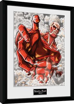 Attack On Titan Season 2 - Colossus Titan Poster Emoldurado
