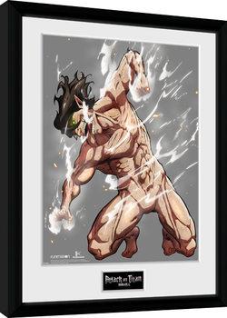 Attack On Titan Season 2 - Eren Titan Poster Emoldurado
