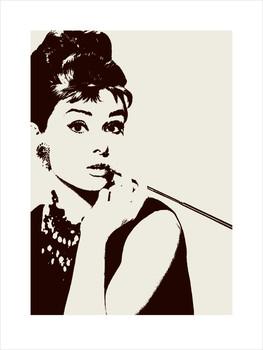 Reprodução do quadro  Audrey Hepburn - cigarello