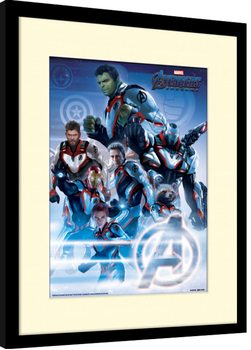 Avengers: Endgame - Quantum Realm Suits Poster Emoldurado
