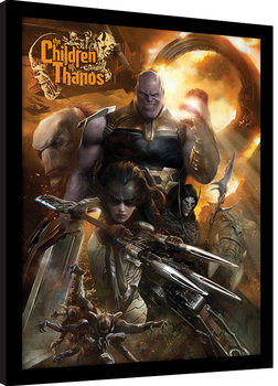 Avengers Infinity War - Children of Thanos Poster Emoldurado