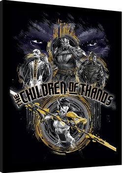 Avengers Infinity War - Children of Thanos Stencil Poster Emoldurado