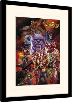 Avengers Infinity War - Gauntlet Character Collage Poster Emoldurado