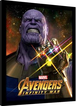 Avengers Infinity War - Infinity Gauntlet Power Poster Emoldurado