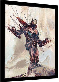 Avengers: Infinity War - Iron Man Sketch Poster Emoldurado