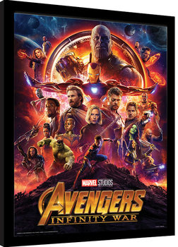 Avengers: Infinity War - One Sheet Poster Emoldurado