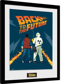 Back To The Future - Doc and Marty Poster Emoldurado