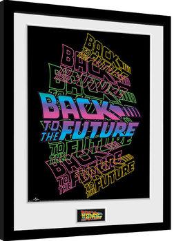 Back To The Future - Neon Poster Emoldurado