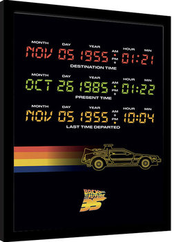 Back to the Future - Time Circuits Poster Emoldurado