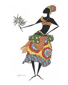 Reprodução do quadro  Baga Woman