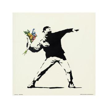 Reprodução do quadro  Banksy - Flower Bomber