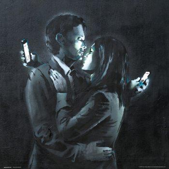 Reprodução do quadro  Banksy - Mobile Phone Lovers Close Up