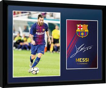 Barcelona - Messi 17/18 Poster Emoldurado