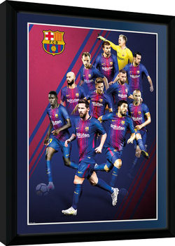 Barcelona - Players 17/18 Poster Emoldurado
