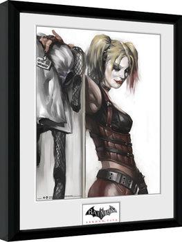 Batman: Arkham City - Harley Quinn Poster Emoldurado