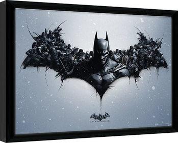 Batman: Arkham Origins - Logo Poster Emoldurado