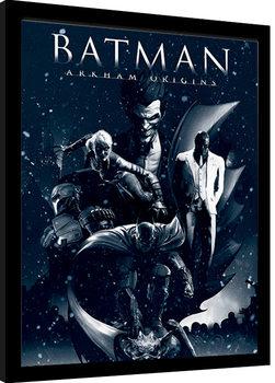 Batman: Arkham Origins - Montage Poster Emoldurado