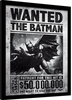 Batman: Arkham Origins - Wanted Poster Emoldurado