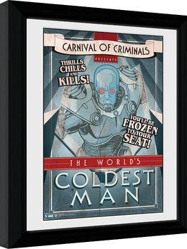 Batman Comic - Circus Coldest Man Poster Emoldurado