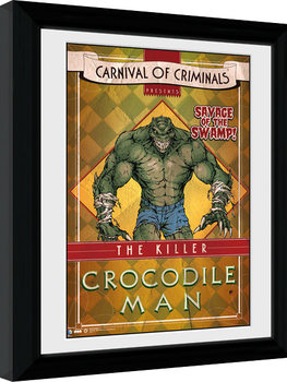 Batman Comic - Circus Crocodile Poster Emoldurado