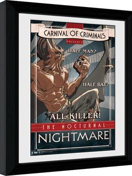 Batman Comic - Circus Nocturnal Nightmare Poster Emoldurado