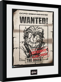 Batman Comic - Joker Wanted Poster Emoldurado