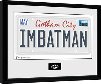 Batman Comic - License Plate Poster Emoldurado