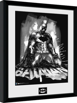 Batman Comic - Paint Poster Emoldurado