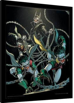 Batman - The Batman Who Laughs Poster Emoldurado