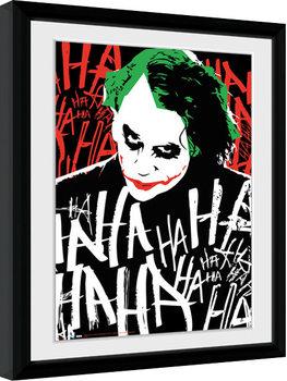 Batman:The Dark Knight - Joker Ha Poster Emoldurado