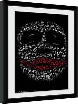 Batman:The Dark Knight  - Joker Haha Type Poster Emoldurado