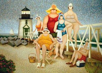 Reprodução do quadro  Beach Vacation