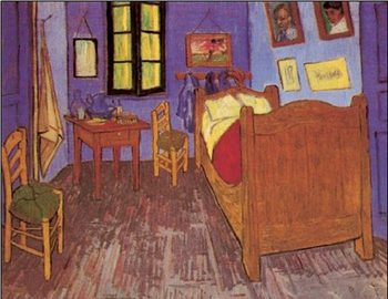 Reprodução do quadro  Bedroom in Arles, 1888